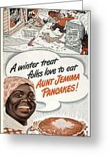 Aunt Jemima Ad, 1948 Greeting Card