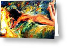 Aura Of Love - Palette Knife Oil Painting On Canvas By Leonid Afremov Greeting Card