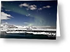 Aurora At Glacier Lagoon Greeting Card