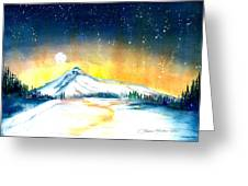 Mount Hood's Starry Crown Greeting Card