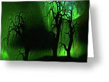 Aurora Borealis Lights - Painting Greeting Card