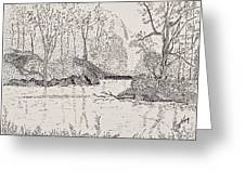 Ausable River At Rock Glen Greeting Card
