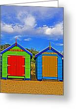 Aussie Beach Boxes Greeting Card