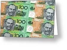 Aussie Dollars 09 Greeting Card