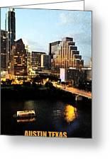Austin At Dusk Digital Art Greeting Card