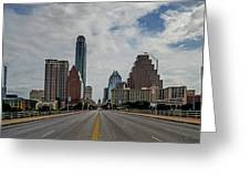 Austin From Congress Street Bridge Greeting Card