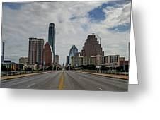 Austin From Congress Street Bridge Greeting Card