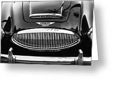Austin Healey 3000mk II Grille - 0161bw Greeting Card