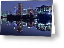 Austin In Lady Bird Lake Greeting Card