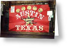 Austin Live Music Greeting Card