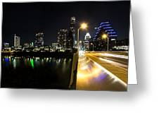Austin Skyline Greeting Card by Amber Dopita