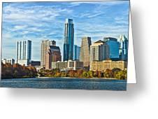 Austin Skyline Panorama Greeting Card