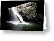 Australia - Welcome To Natural Arch Waterfall Greeting Card
