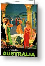 Australia, Romantic Night, Dance And Music, Hotel Terrace Greeting Card