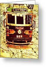 Australia Travel Tram Map Greeting Card