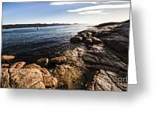 Australian Bay In Eastern Tasmania Greeting Card