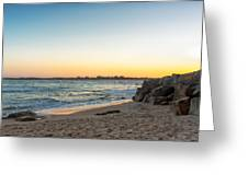 Australian Beach Sunset Greeting Card