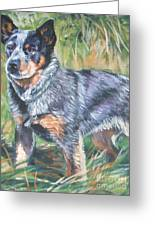 Australian Cattle Dog 1 Greeting Card by Lee Ann Shepard