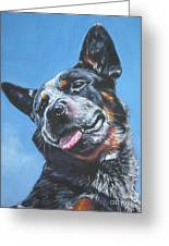 Australian Cattle Dog 2 Greeting Card by Lee Ann Shepard