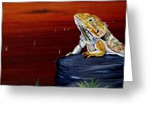 Australian Central Bearded Dragon Greeting Card