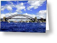 Australian Day Is A Party Day On Sydney Harbour  Greeting Card