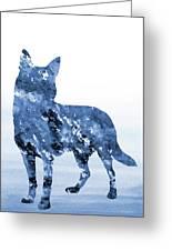 Australian Kelpie-blue Greeting Card