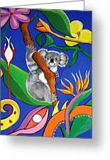 Australian Koala Greeting Card