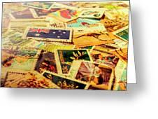 Australian Postal Background Greeting Card