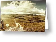 Australian Rural Panoramic Landscape Greeting Card
