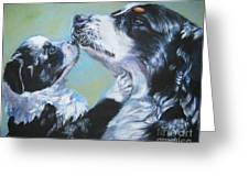 Australian Shepherd Mom And Pup Greeting Card