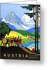 Austria Vintage Travel Poster Greeting Card