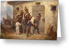 Austrian Dragoons Greeting Card