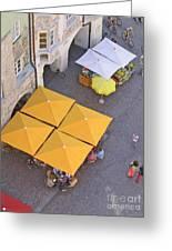 Austrian Street Scene Greeting Card