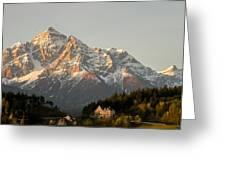 Austrian Sunrise Greeting Card by Denise Darby