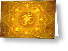 Authentic Om  Greeting Card