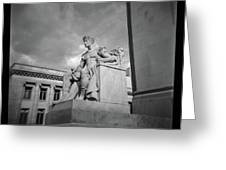 Authority Statue At The Courthouse In Memphis Tennessee Greeting Card