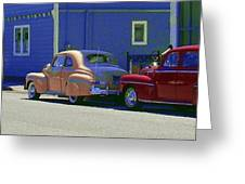 Auto Oldies Greeting Card