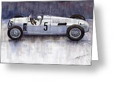 Auto Union 1936 Type C Greeting Card