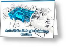 Autocad Online Training Greeting Card