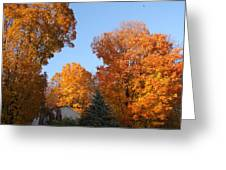Automn Fire Greeting Card