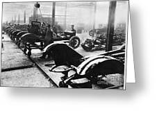 Automobile Manufacturing Greeting Card