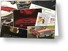 Automotive Ad's Collage 2 Greeting Card