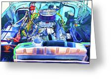 Automotive Engine Greeting Card