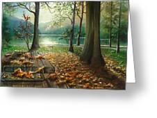 Autum Splendor Bunzen Lake Greeting Card
