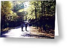 Autum Walking 2 Wcaedb2 Greeting Card