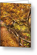 Autumn - Landscape - Country Road Side Greeting Card