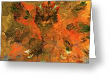 Autumn Abstract 103101 Greeting Card