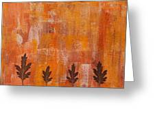 Autumn Abstract Art  Greeting Card