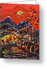 Autumn Adirondack Sunset Greeting Card by Carol Law Conklin