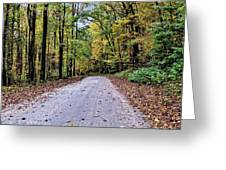Autumn Along A Country Road 1 Greeting Card